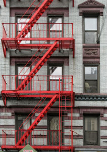 Building With Red Fire Escapes