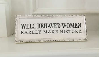 Women's history placard